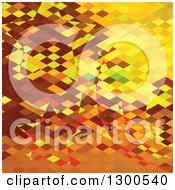 Clipart Of A Low Poly Abstract Geometric Background Of An Autumnal Forest Royalty Free Vector Illustration