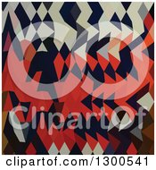 Clipart Of A Low Poly Abstract Geometric Background Of Harlequin Royalty Free Vector Illustration