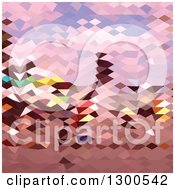 Clipart Of A Low Poly Abstract Geometric Background Of A Horseman Royalty Free Vector Illustration
