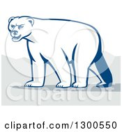 Clipart Of A Retro Polar Bear Royalty Free Vector Illustration by patrimonio