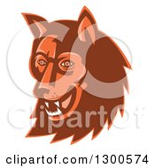 Clipart Of A Retro Wild Dog Or Wolf Head Royalty Free Vector Illustration