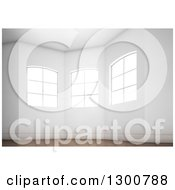 Clipart Of A 3d Oriel Room Interior With Bright Windows And Wood Floors Royalty Free Illustration by Mopic