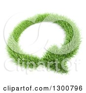 Clipart Of A 3d Grass Circular Refresh Arrow Over White Royalty Free Illustration by Mopic