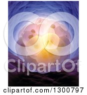 Clipart Of A 3d Embryo Royalty Free Illustration
