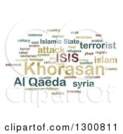 Clipart Of A Green ISIS And Al Qaeda Word Collage Over White 2 Royalty Free Illustration