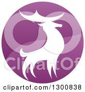 Gradient Purple Deer Stag Circle