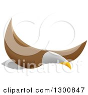 Clipart Of A Flying Bald Eagle Royalty Free Vector Illustration by AtStockIllustration