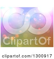 Clipart Of A Blurry Background Of Bokeh Lights On Color Royalty Free Illustration