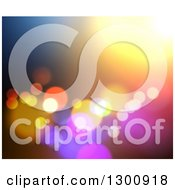 Clipart Of A Blurred Background Of Bokeh Lights On Color Royalty Free Illustration