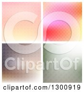 Clipart Of Colorful Patterned Backgrounds Royalty Free Vector Illustration