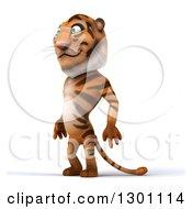 Clipart Of A 3d Tiger Facing Slightly Left Royalty Free Illustration