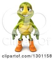 3d Tortoise Turtle Gardener In Rubber Boots