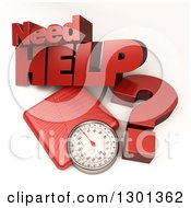 3d Red Body Weight Scale With Need Help Text On Shaded White