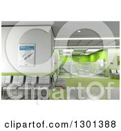 3d Modern Green Clinic Operating Room And Lobby 2