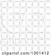Clipart Of A 3d Grayscale Seamless Weave Texture Background Royalty Free Vector Illustration