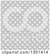Clipart Of A Silver Pyramid Geometric Background Pattern Royalty Free Vector Illustration
