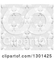 Clipart Of A Seamless Gryascale Floral Pattern Royalty Free Vector Illustration by vectorace