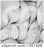Clipart Of A Seamless Abstract Line Art Weave Background Royalty Free Vector Illustration