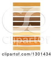 Strips Of Wood Grain On White