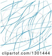 Background Of Blue Lines Or Hairs On White