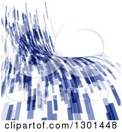 Clipart Of A Blue Abstract Flow Background Royalty Free Vector Illustration