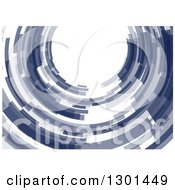 Clipart Of A Blue Abstract Circle Or Tunnel Background 3 Royalty Free Vector Illustration