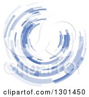 Clipart Of A Blue Abstract Circle Or Tunnel Background 2 Royalty Free Vector Illustration