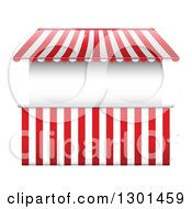 Clipart Of A Vendor Stall With Striped Awnings Royalty Free Vector Illustration