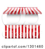 Clipart Of A Vendor Stall With Stripes Royalty Free Vector Illustration