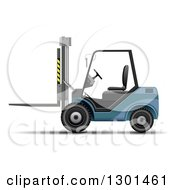 Clipart Of A 3d Blue Forklift Machine On White Royalty Free Vector Illustration by vectorace