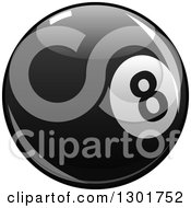 Clipart Of A Shiny Billiards Eightball Royalty Free Vector Illustration