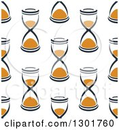 Clipart Of A Seamless Pattern Background Of Hourglasses 3 Royalty Free Vector Illustration by Vector Tradition SM