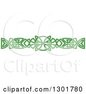 Clipart Of A Green Celtic Knot Rule Border Design Element 13 Royalty Free Vector Illustration
