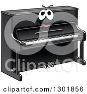 Clipart Of A Cartoon Black Piano Character Royalty Free Vector Illustration by Vector Tradition SM