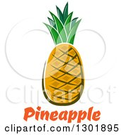 Clipart Of A Pineapple Over Text Royalty Free Vector Illustration