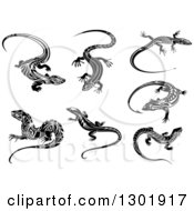 Black And White Tribal Lizards 4