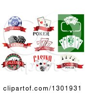 Clipart Of Casino And Poker Designs Royalty Free Vector Illustration
