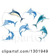 Clipart Of Marlin Fish Royalty Free Vector Illustration