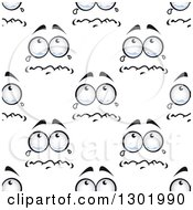 Clipart Of A Seamless Pattern Background Of Crying Faces Royalty Free Vector Illustration