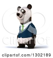 Clipart Of A 3d Happy Business Panda Facing Slightly Left Royalty Free Vector Illustration