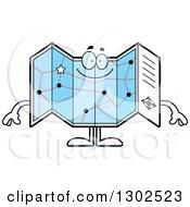 Cartoon Happy Road Map Atlas Character Smiling