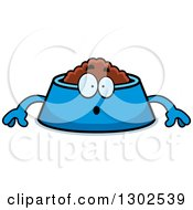 Clipart Of A Cartoon Surprised Pet Food Bowl Dish Character Gasping Royalty Free Vector Illustration by Cory Thoman