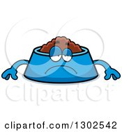 Clipart Of A Cartoon Sad Depressed Pet Food Bowl Dish Character Pouting Royalty Free Vector Illustration by Cory Thoman