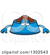 Clipart Of A Cartoon Sick Pet Food Bowl Dish Character Royalty Free Vector Illustration by Cory Thoman