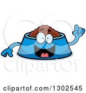 Clipart Of A Cartoon Smart Pet Food Bowl Dish Character With An Idea Royalty Free Vector Illustration by Cory Thoman