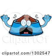 Clipart Of A Cartoon Scared Pet Food Bowl Dish Character Screaming Royalty Free Vector Illustration by Cory Thoman