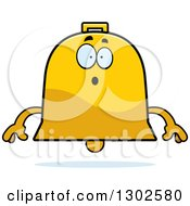 Clipart Of A Cartoon Surprised Bell Character Gasping Royalty Free Vector Illustration by Cory Thoman
