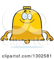 Clipart Of A Cartoon Happy Bell Character Smiling Royalty Free Vector Illustration