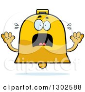 Clipart Of A Cartoon Scared Bell Character Screaming Royalty Free Vector Illustration