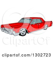 Red Classic 1969 Cadillac Continental Car